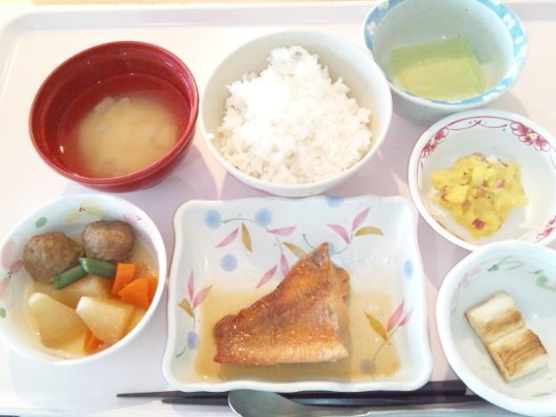 2月22日昼食(赤魚の煮付け) #病院食