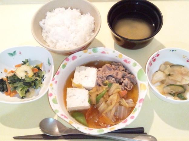 2月22日夕食(牛すき煮) #病院食
