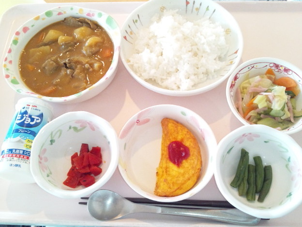 3月19日昼食(ビーフカレー) #病院食