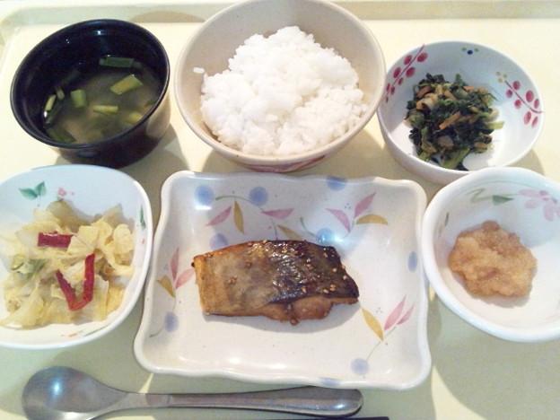 3月22日夕食(鯵の南部焼き) #病院食