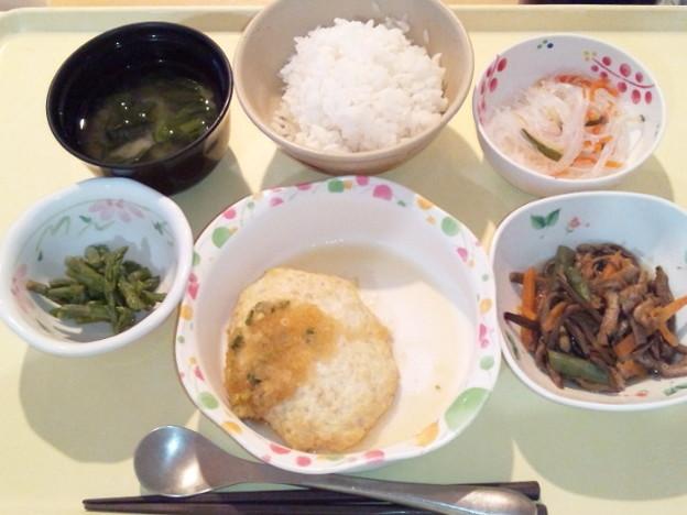 3月23日夕食(豆腐ハンバーグ) #病院食