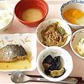 4月23日昼食(鯵の生姜煮) #病院食