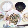 4月23日夕食(鶏肉のオイスター炒め) #病院食