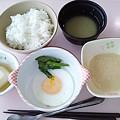 4月24日朝食(目玉焼き) #病院食