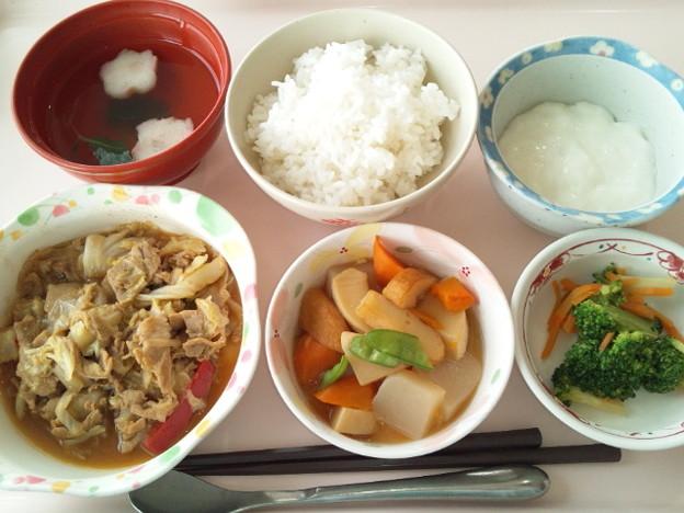 4月24日昼食(豚肉の味噌炒め) #病院食