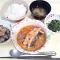 4月24日夕食(カレイの野菜あん) #病院食