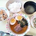 4月26日夕食(豚角煮) #病院食
