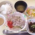 5月22日夕食(豚しゃぶ) #病院食