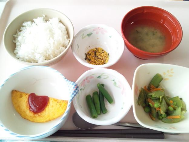 5月24日朝食(オムレツ) #病院食