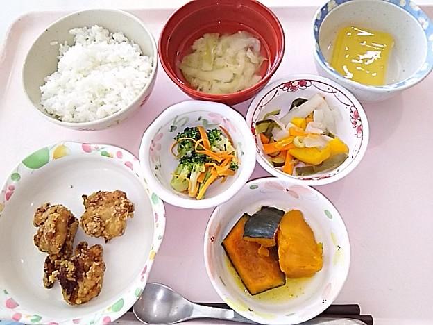 5月24日昼食(鶏肉の唐揚げ) #病院食