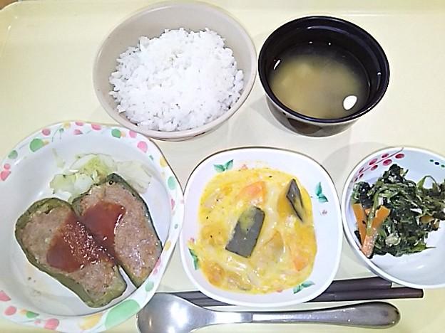 5月26日夕食(ピーマンの肉詰め) #病院食