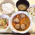 6月14日夕食(チキンボールの甘酢あん) #病院食
