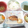 6月17日昼食(ぶりの照り焼き) #病院食