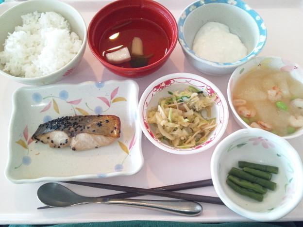 6月19日昼食(めだいの南部焼き) #病院食