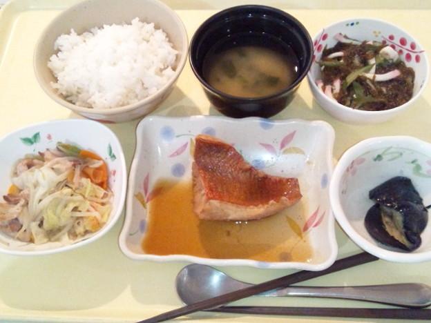 6月20日夕食(赤魚の生姜煮) #病院食