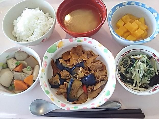 6月24日昼食(なすと豚肉の味噌炒め) #病院食