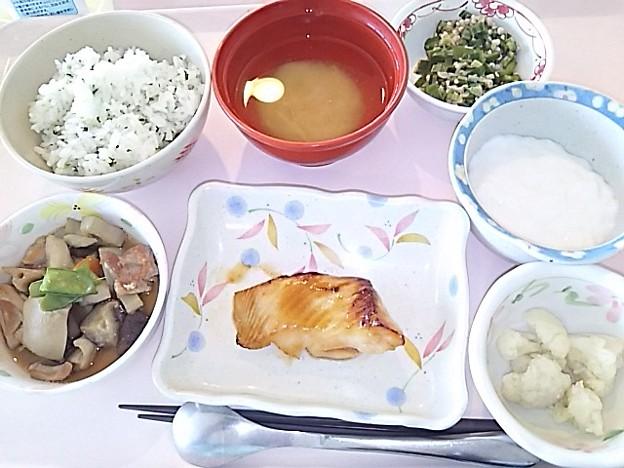 6月25日昼食(カレイの照り焼き) #病院食