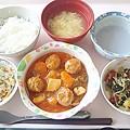 7月15日昼食(肉団子の酢豚風) #病院食