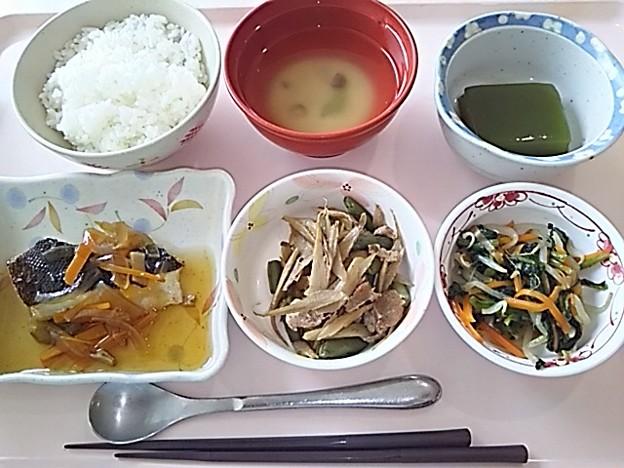 7月16日昼食(カレイの野菜あんかけ) #病院食