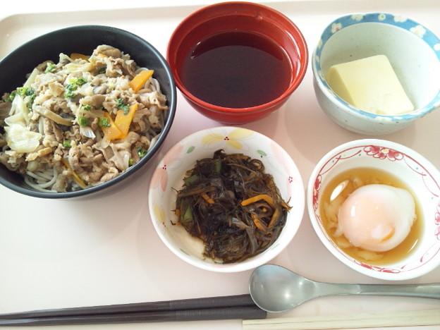 7月17日昼食(牛肉そば) #病院食