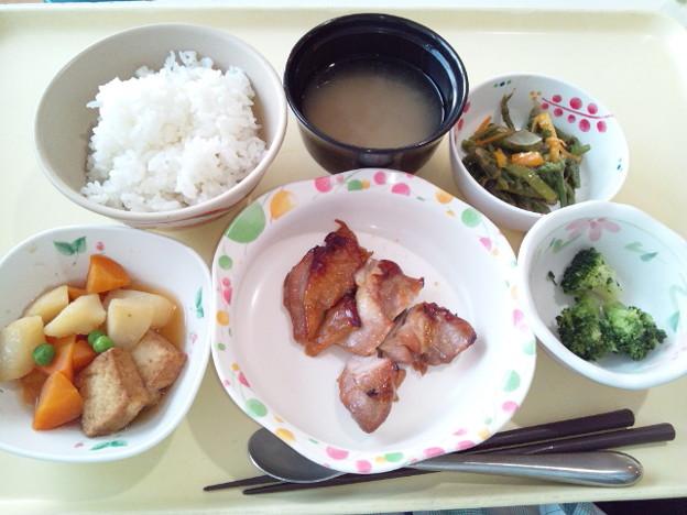 7月18日夕食(鶏肉の山椒焼き) #病院食