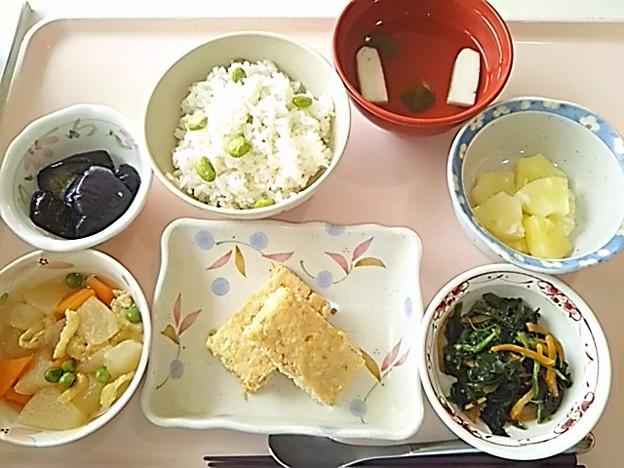 7月22日昼食(松風焼き) #病院食