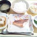 8月12日夕食(赤魚の粕漬け焼き) #病院食