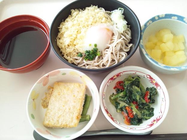8月14日昼食(月見そば) #病院食