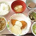 8月15日昼食(サーモンフライ) #病院食
