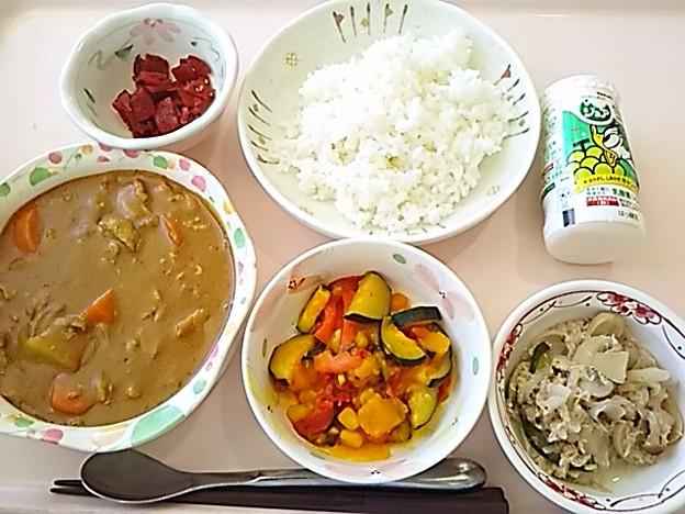 8月17日昼食(ポークカレー) #病院食