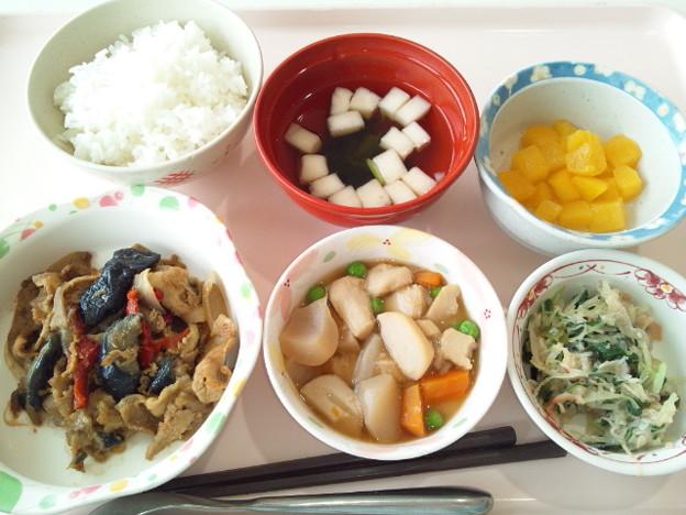 9月20日昼食(茄子と豚肉の味噌炒め) #病院食