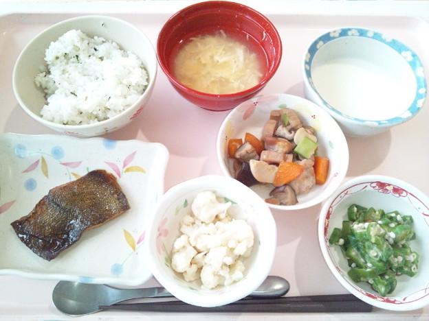 9月25日昼食(カレイの照り焼き) #病院食