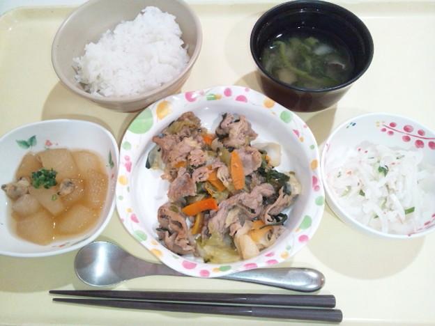 9月25日夕食(牛肉と野菜のオイスターソース炒め) #病院食