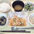 10月13日夕食(赤魚の香り蒸し) #病院食