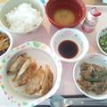 10月14日昼食(餃子) #病院食
