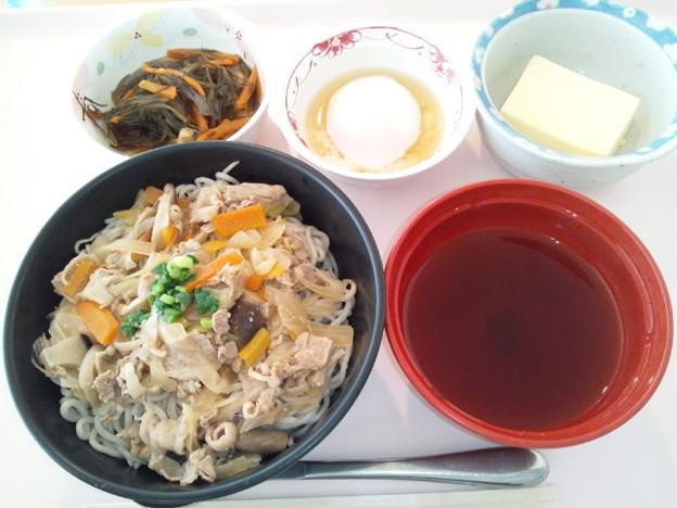 10月17日昼食(牛肉そば) #病院食