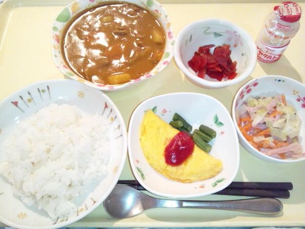 10月20日夕食(ビーフカレー) #病院食