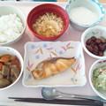 10月21日昼食(めだいの甘味噌焼き) #病院食