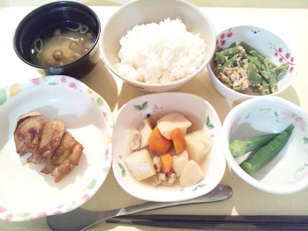 11月12日夕食(鶏のくわ焼き) #病院食