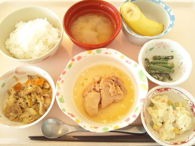 11月14日昼食(鶏の圧力鍋煮?) #病院食