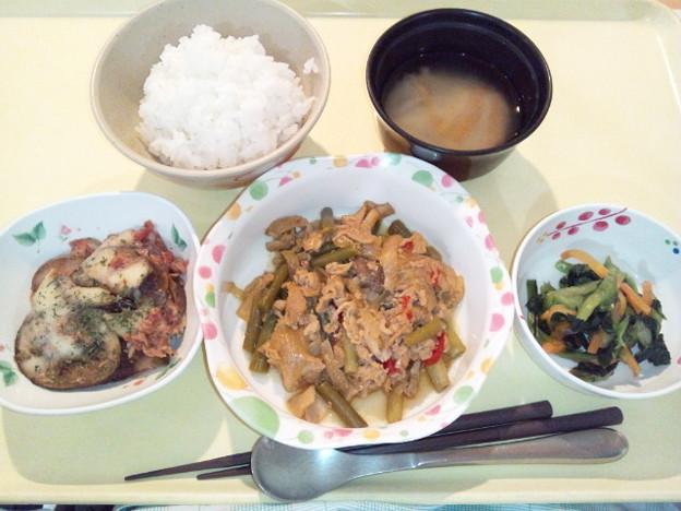 11月14日夕食(豚肉のスタミナ炒め) #病院食