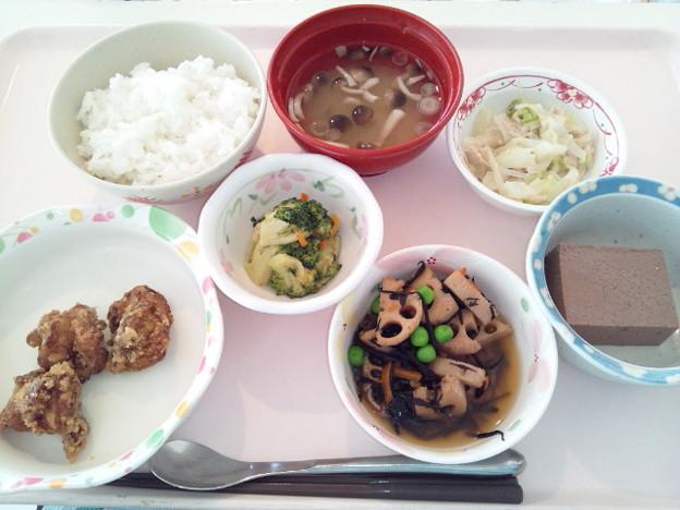 11月15日昼食(鶏肉の唐揚げ) #病院食