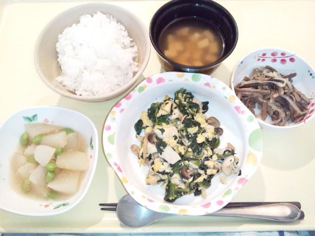12月12日夕食(鶏肉のオイスター炒め) #病院食