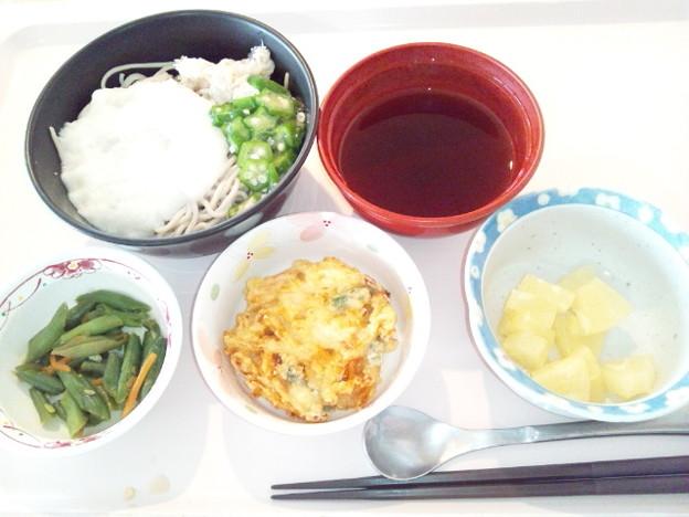 12月13日昼食(とろろそば) #病院食
