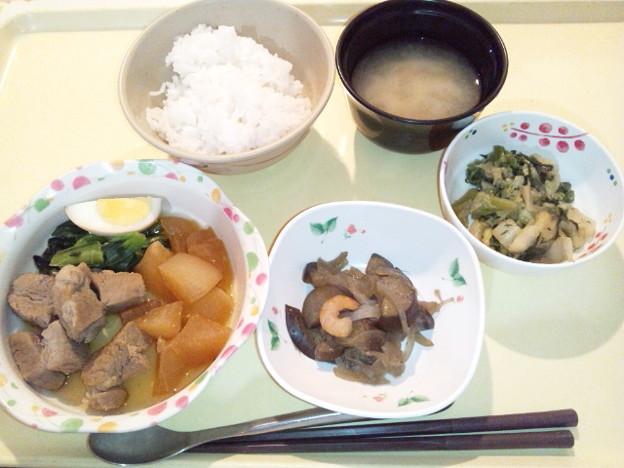 12月19日夕食(豚角煮) #病院食