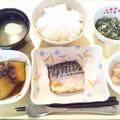 1月16日夕食(鯖の塩焼き) #病院食