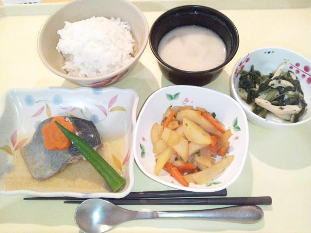 1月17日夕食(鯵の生姜煮) #病院食