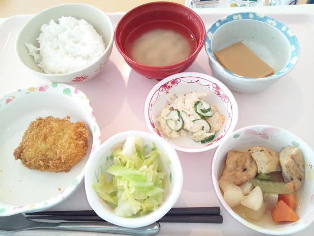 1月19日昼食(メンチカツ) #病院食