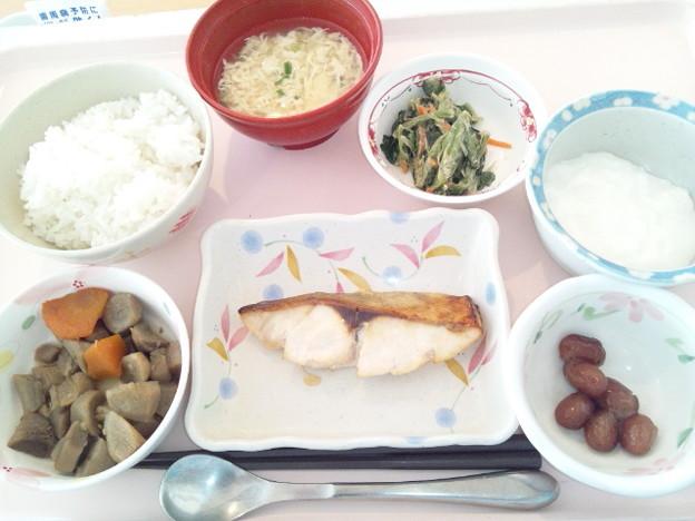 1月21日昼食(めだいの甘味噌焼き) #病院食