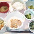 Photos: 3月23日昼食(鶏のにんにく醤油焼き) #病院食